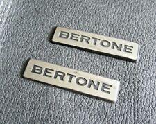 BERTONE - GENUINE ORIGINAL BADGE SET -  Wing / Boot
