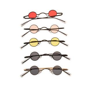 Mini Retro Sunglasses Men Round Metal Frame Small Fashion Framed Sun glasses