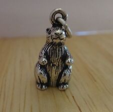 1 Sterling Silver 3D Heavy 18x11x9mm Large Prairie Dog Animal Charm