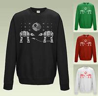 STAR WARS CHRISTMAS FAIR ISLE PATTERN Jumper Sweatshirt JH030 Sweater Funny