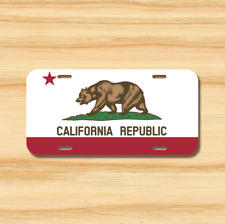 California State Flag License Plate Vehicle Auto Tag Los Angeles  FREE SHIPPING
