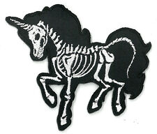 Skelecorn (Skelton Unicorn) iron on/sew on Embroidered Patch Applique (US Seller
