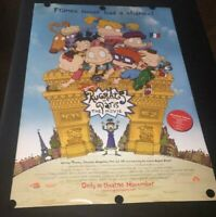 RARE 2000 Rugrats in Paris Advance Movie Poster Double Sided Nickelodeon