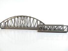 Märklin H0 K+M Gleis Bogenbrücke - H0 Kastenbrücke  fertig gebaut