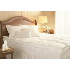 """4"""" White Duck Down Feather Bed Mattress Topper Pad Pillowtop Hypoallergenic Cool"""