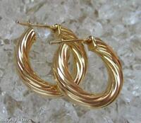 Goldcreolen Creolen Ohrringe 375 Gold Damen Ohrschmuck D.24,8 mm .
