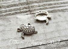 Turtle Charms Pendants Tortoise Charms Sea Turtle Charms Antiqued Silver 10pcs