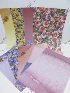 Floral & Patterned Backing Paper 130gsm 18 1-Sided Shts (2 of each design) AM200