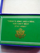 """Vintage 1960'sGreen PLastic Coated Playing Cards """"Todays Army Has A Deal..."""""""