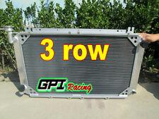 Pour 3 rangée de nissan patrol gq 2.8 4.2 diesel TD42 & 3.0 essence Y60 radiateur en aluminium