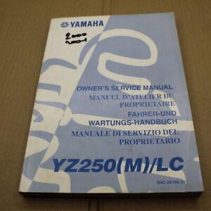 MANUEL REVUE TECHNIQUE D ATELIER YAMAHA YZ 250 M LC 2000 ENTRETIEN REPARATIONS