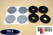 4 hub cap con Plateada Silicona etiquetas engomadas 55,5-49,5 mm TU / S - BROCK