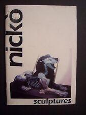 NICKO - Sculptures ( Plaquette illustrée en couleurs, dédicacée / Nicko ) - 1995