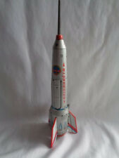 VTG TIN LITHO METAL FRICTION TOY SOVIET ERA SPACE ROCKET SHIP 15.5""