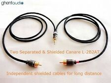"""B02 (0.3m 1ft)---3.5mm Jack 1/8"""" TRS to Dual(2) RCA Canare L-2B2AT Audio Cable"""