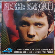 PIERRE BAROUH LE COURAGE D'AIMER FRENCH EP DISQUES Az 1965