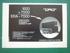 9/1970 PUB TRT EMETTEUR RECEPTEUR DE BORD AVION HELICOPTERE ORIGINAL FRENCH AD