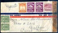 ECUADOR TO CANAL ZONE Air Mail Censored Cover VF