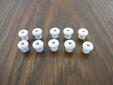 10 alte Porzellan-Knöpfe für Kaufladen / Kaufmannsladen 1x1cm lang