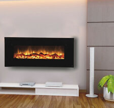"50"" Touchstone Wall Mount Fireplace The Onyx® Heats 400 sq  ft  Remote 80001"