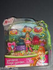 "NEW Jakks 2013 Nickelodeon WINX CLUB Playset GARDENIA MAGIC GARDEN 4"" FLORA Doll"