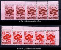 Serbien 54 I, 56 A I, Oberrandstreifen postfrisch, bitte auswaehlen! #m596