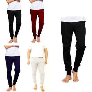 Mens Joggers Sweat Trousers Fit Pique Tracksuit Bottom Skinny Jogging Pants