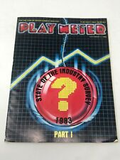 Play Meter Magazine November 1983 Pinball Video Games Industry Survey