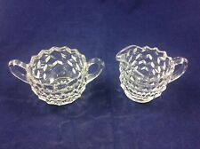Vintage Jeanette Glass SUGAR AND CREAMER Clear
