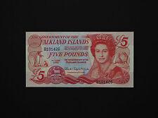 FALKLAND ISLANDS BANKNOTES  -  BEAUTIFUL QEII FIVE POUNDS NOTE   * MINT UNC *
