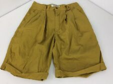 VTG 80s Hang Ten Shorts Sz M Olive Green Cuffed MOM High Waist Pleated Taper