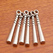 30 Piece 35*5mm Baseball Bat Charms Tibetan Silver Jewelry Making Necklace A8002