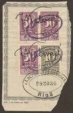 Handstamped Fiscal, Revenue European Stamps