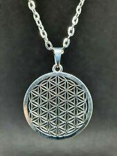 "Flower of Life Pendant Sacred Geometry Reiki Yoga 20"" Necklace Unisex Jewellery"