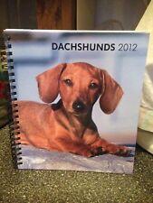 Dachshund Dachshunds 2012 Agenda Book Weekly Engagement Calendar Hardcover Book