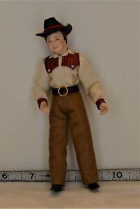 Artist Carol Kubesh Cowboy/Girl Doll Miniatures OOAK 1:12 Poseable Southwest