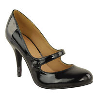 LADIES WOMENS LOW MID HIGH HEEL ANKLE STRAP COURT SHOES WORK PUMPS SANDALS SIZE