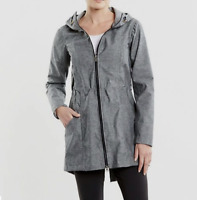 Lucy Activewear Lets Jet Gray Waterproof Long Rain Jacket Size Small
