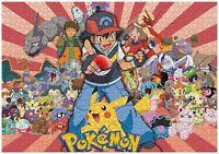 Pikachu Pokemon Puzzle Jigsaw 1000 Anime Japan Cute Ash Charizard Kids Toys Play