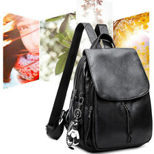 Perfekt Vintage Echtes Leder Rucksack Schultasche Reisetasche Herren Damen Tasch