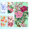 iPhone X 8 8 Plus 7 6s 6 Plus PU Leather Flip Wallet Case Flower Floral I Cover