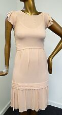 New Moschino Cheap & Chic sz 6 Blush Sleeveless Dress $750rt w/ Slip Italy