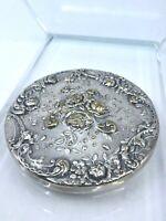 Vintage Gorham Silverplate Repousse Hand Pocket Mirror