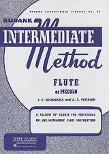 Rubank Intermediate Method For Flute/Piccolo Band Music Book Brand New On Sale!