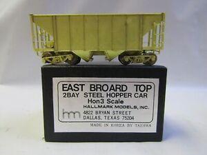HALLMARK MODELS HOn3 EAST BROAD TOP 2 BAY STEEL HOPPER BRASS NIB