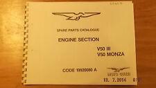 MOTO GUZZI V50 III / MONZA MOTORE SEZIONE CATALOGO PEZZI RICAMBIO 00407 [3-21-5]