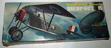 "1956 Aurora Nieuport II World War I French 1/4"" Scale Plastic Model Plane Kit"