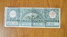 ANTICO BIGLIETTO GRANDE LOTTERIA IPPICA NAZIONALE PREZZO 12 LIRE MERANO 1935