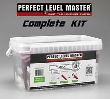"T-Lock â""¢ Perfect Level Master â""¢ ""Kit"" Tile leveling system wall floor spacers"