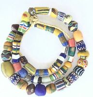 Handmade African Ghana mixed Powder-Glass Trade beads
